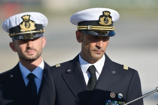 The Italian Marines upon their initial return in Italy in December 2012. Will they remain for good?
