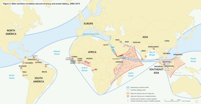 Maritime Circulation and Piracy 2006-2013